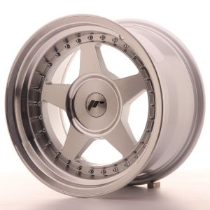 JR Wheels JR6 16x9 ET0-20 BLANK Silver Machined Face