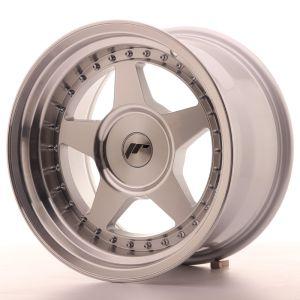 JR Wheels JR6 16x9 ET20 BLANK Mach Silver Machined Face