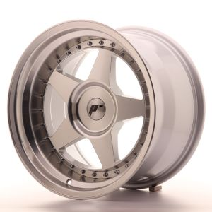 JR Wheels JR6 17x10 ET0-20 BLANK Silver Machined Face