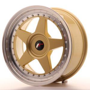 JR Wheels JR6 17x8 ET20-35 BLANK Gold w/Machined Lip