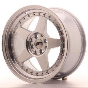 JR Wheels JR6 17x9 ET35 4x100/114 Silver Machined Face