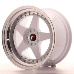 JR Wheels JR6 18x10,5 ET25 5x114,3/120 White w/Machined Lip