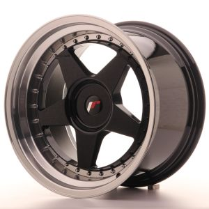 JR Wheels JR6 18x10,5 ET0-25 BLANK Gloss Black w/Machined