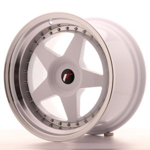 JR Wheels JR6 18x10,5 ET0-25 BLANK White w/Machined Lip