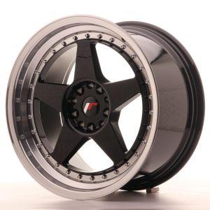 JR Wheels JR6 18x9,5 ET22 5x114,3/120 Gloss Black w/Machined