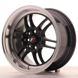 JR Wheels JR7 15x8 ET35 4x100/114 Gloss Black w/Machined Lip