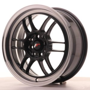 JR Wheels JR7 16x7 ET38 4x100/114 Gloss Black w/Machined Lip