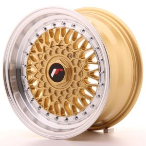 JR Wheels JR9 15x7 ET20 4x100/108 Gold w/Machined Lip
