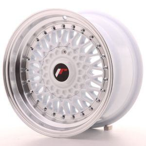 JR Wheels JR9 15x8 ET20 4x100/108 White w/Machined Lip