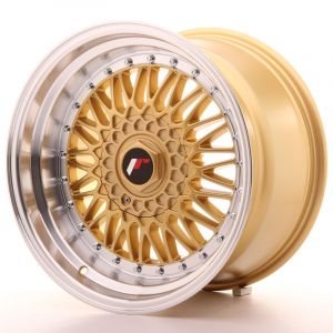 JR Wheels JR9 17x10 ET20 5x112/120 Gold w/Machined Lip