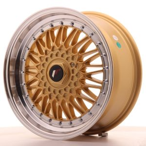 JR Wheels JR9 17x7,5 ET20 4x100/108 Gold w/Machined Lip