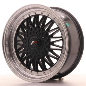 JR Wheels JR9 18x8 ET35-40 BLANK Gloss Black w/Machined Lip