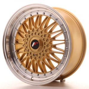 JR Wheels JR9 18x8 ET35-40 BLANK Gold w/Machined Lip