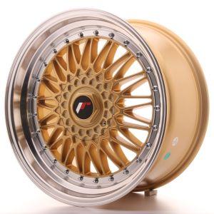 JR Wheels JR9 18x9 ET20-40 BLANK Gold w/Machined Lip